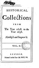 Mr  Rushworth s Historical Collections Abridg d Amd Improv d