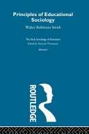 The Early Sociology of Education: Principles of educational sociology