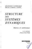 Structure des systèmes dynamiques