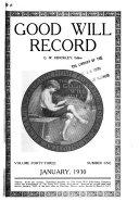 Good Will Record Book PDF