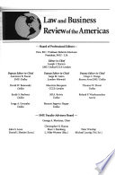 Law and Business Review of the Americas