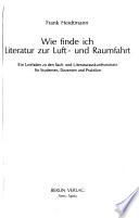 Wie finde ich Literatur zur Luft- und Raumfahrt