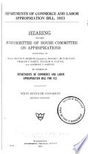 Departments of Commerce and Labor Appropriations Bill