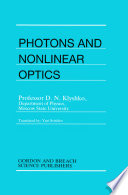 Photons Nonlinear Optics
