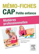 CAP Petite enfance, matières professionnelles