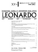 Leonardo   Journal of International Society for the Arts  Sciences and Technology