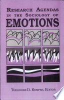 Research Agendas in the Sociology of Emotions Book