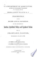 Proceedings Of The Annual Convention Of The Association Of American Agricultural Colleges And Experiment Stations