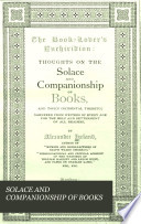 SOLACE AND COMPANIONSHIP OF BOOKS Book