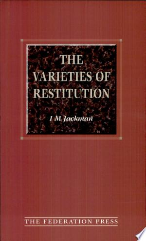 Download The Varieties of Restitution Free Books - Dlebooks.net