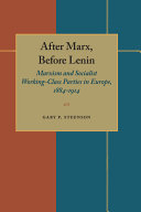 After Marx  Before Lenin
