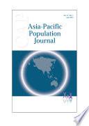 Asia Pacific Population Journal Vol 27 No 1 June 2012