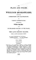 The Plays and Poems of William Shakespeare: Henry VI, pt.I-III. Malone's dissertation