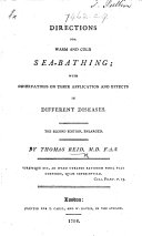 Pdf Directions for warm and cold Sea-bathing ... Second edition, enlarged