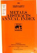 Metals Abstracts Index