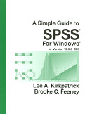 Cover of A Simple Guide to SPSS for Windows