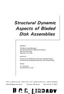 Pdf Structural Dynamic Aspects of Bladed Disk Assemblies