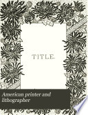 American Printer and Lithographer Book PDF
