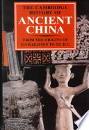 The Cambridge History of Ancient China Book