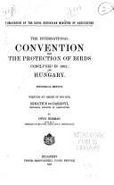 The International Convention for the Protection of Birds Concluded in 1902