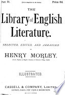 Cassell s library of English literature  selected  ed  and arranged by H  Morley Book PDF