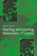 Teaching and Learning Mathematics Pdf/ePub eBook