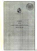 Report of the Attorney General and Minister of Justice on the Ministry of Justice and the Crown Law Department for the Year     Book
