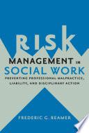 Risk Management In Social Work Book PDF