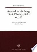 Arnold Schönberg, drei Klavierstücke Op. 11