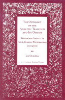 The Ontology of the Analytic Tradition and Its Origins ebook