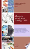 Advances in Manufacturing Technology XXXII