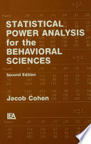 Statistical Power Analysis for the Behavioral Sciences