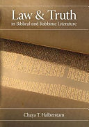Law and Truth in Biblical and Rabbinic Literature [Pdf/ePub] eBook