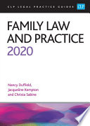 """Family Law and Practice 2020"" by Nancy Duffield"