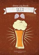 Brew Log Book   Homebrew Beer Recipe Journal   Notebook   Beer  RED Vintage