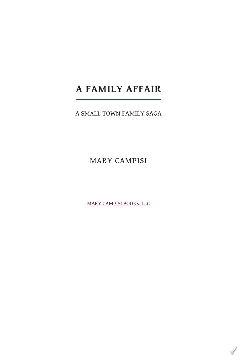 A Family Affair banner backdrop