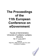 Eceg2011 Proceedings Of The 11th European Conference On Egovernment