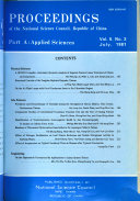 Proceedings Of The National Science Council Republic Of China