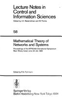 International Symposium on Mathematical Theory of Networks and Systems