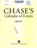 Chase's Calendar of Events 2007