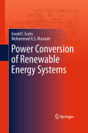 Power Conversion of Renewable Energy Systems Book