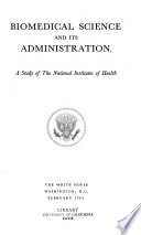 Biomedical Science and Its Administration Book
