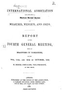 Report of the Fourth General Meeting  held at Bradford     on the 10th  11th  and 12th of October  1859