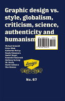 Emigre  GLOBAL DESIGN  VS  Globalism  Critisism  SCIENCE  AUTHENTIcity and Humanism    67
