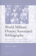 World Military History Annotated Bibliography