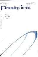 Proceedings in Print Book