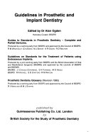 Guidelines in prosthetic and implant dentistry