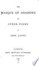 The Masque of Shadows  and Other Poems Book