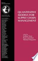Quantitative Models for Supply Chain Management Book PDF