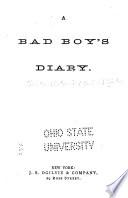 A Bad Boy s Diary Book